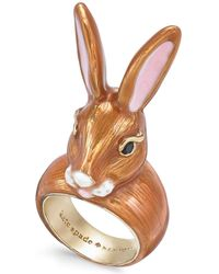 Kate Spade - Gold-tone Bunny Ring - Lyst