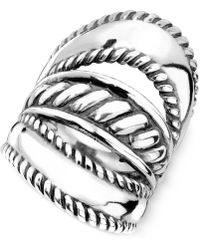 Carolyn Pollack - Ornate Three-row Ring In Sterling Silver - Lyst