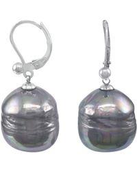 Majorica - Sterling Silver Earrings, Organic Man-made Baroque Pearl - Lyst