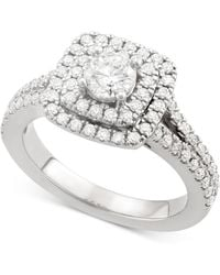 Marchesa - Certified Diamond Square Frame Ring (1-1/4 Ct. T.w.) In 18k White Gold - Lyst