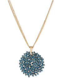 Kenneth Cole - Gold-tone Faceted Woven Bead Pendant Necklace - Lyst