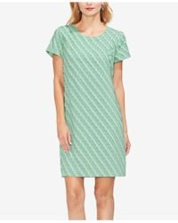 9e0cc2d1e64 Vince Camuto - Short-sleeve Clipped-scallop Dress - Lyst