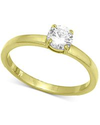 Giani Bernini - Cubic Zirconia Stone Ring In 18k Gold-plated Sterling Silver, Created For Macy's - Lyst