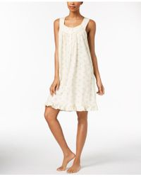 Charter Club | Lace-trim Ruffle-hem Chemise, Created For Macy's | Lyst
