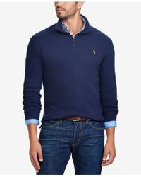 Polo ralph lauren Estate-rib Cotton Pullover in Blue for Men | Lyst