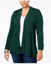 Karen Scott - Plus Size Open-front Cardigan, Created For Macy's - Lyst