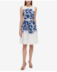 Tommy Hilfiger - Floral-printed A-line Dress - Lyst