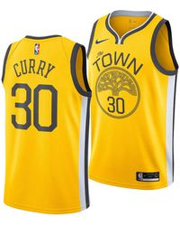 6ff7577ab Nike - Stephen Curry Golden State Warriors Earned Edition Swingman Jersey -  Lyst