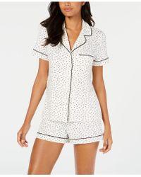 Alfani - Notch Collar Pajama Shorts Set, Created For Macy's - Lyst