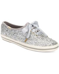 Kate Spade - Glitter Lace-up Sneakers - Lyst