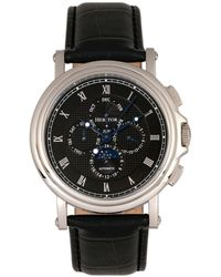 Heritor - Automatic Kingsley Silver & Black Leather Watches 46mm - Lyst