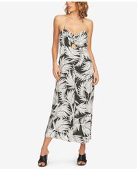 1.STATE - Printed Cutout Halter Jumpsuit - Lyst