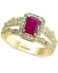 Effy Collection - Certified Ruby (1 Ct. T.w.) And Diamond (1/2 Ct. T.w.) Ring In 14k Gold - Lyst