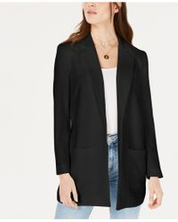 1.STATE - Textured Crepe Patch Pocket Long Blazer - Lyst
