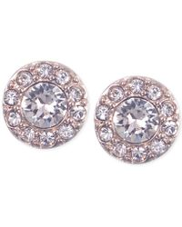 Givenchy | Silver-tone Small Crystal Pavé Stud Earrings | Lyst