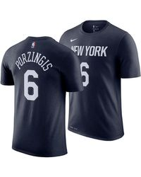 2714b86a557 Nike - Kristaps Porzingis New York Knicks City Player T-shirt 2018 - Lyst