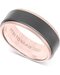 Macy's - Men's Band In Tungsten And 18k White, Yellow Or Rose Gold - Lyst