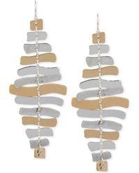 Robert Lee Morris - Two-tone Sculptural Chandelier Earrings - Lyst