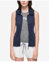 Tommy Hilfiger | Perforated Zip-front Vest | Lyst