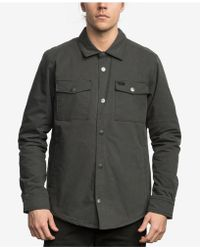 RVCA | Men's Military-inspired Shirt Jacket | Lyst
