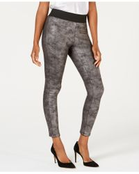 INC International Concepts - I.n.c. Pebble-texture Faux-leather Smoothing Leggings, Created For Macy's - Lyst