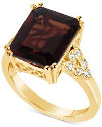 Macy's - Rhodolite Garnet (8 Ct. T.w.) & Diamond (1/10 Ct. T.w.) Ring In 14k Gold - Lyst