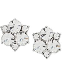Givenchy - Silver-tone Crystal Cluster Stud Earrings - Lyst