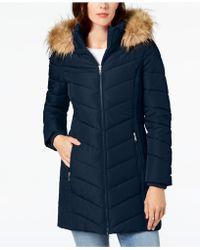770d63da9d8 Lyst - Tommy Hilfiger Plus Size Faux-fur-trim Hooded Puffer Coat in ...