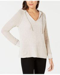Style & Co. - Mixed-knit Hoodie Jumper, Created For Macy's - Lyst