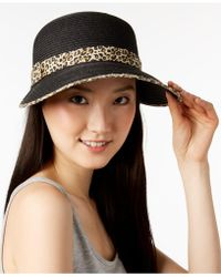 August Accessories - Animal-print Framer Hat - Lyst