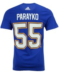 4f917f48827 adidas - Colton Parayko St. Louis Blues Silver Player T-shirt - Lyst