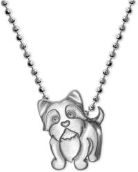 Alex Woo - Yorkie Pendant Necklace In Sterling Silver - Lyst