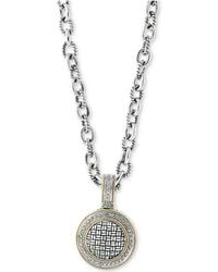 Effy Collection - Diamond Pendant Necklace (1/3 Ct. T.w.) In Sterling Silver & 18k Gold - Lyst