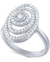 Macy's - Diamond Spiral Statement Ring (1/2 Ct. T.w.) In Sterling Silver - Lyst