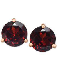 Macy's - Rhodolite Garnet Stud Earrings (2-3/4 Ct. T.w.) In 14k Gold - Lyst
