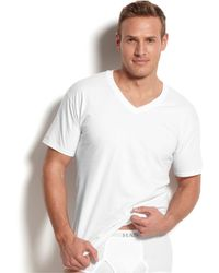 Hanes - Big & Tall 4-pk. Cotton V-neck Undershirts - Lyst