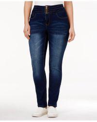 Rampage - Trendy Plus Size Skinny Jeans - Lyst