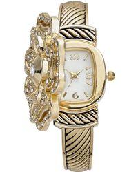 Charter Club - Gold-tone Peek Flower Bracelet Watch 35mm, Created For Macy's - Lyst