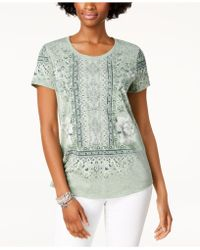 Style & Co. - Graphic Scoop-neck T-shirt, Created For Macy's - Lyst