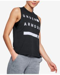 Under Armour - Charged Cotton® Sleeveless T-shirt - Lyst