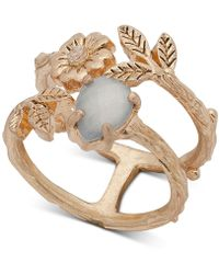 Lonna & Lilly - Gold-tone Stone, Flower & Leaf Double-row Ring, Created For Macy's - Lyst