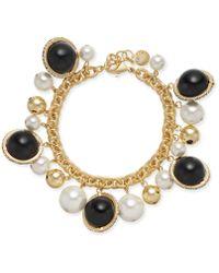 Charter Club - Gold-tone Pavé, Imitation Pearl & Bead Shaky Link Bracelet, Created For Macy's - Lyst