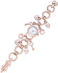 Charter Club | Women's Rose Gold-tone Charm Bracelet Watch 23mm | Lyst