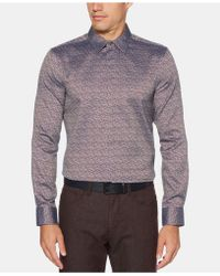Perry Ellis - Slim Fit Multi-color Jacquard Shirt - Lyst