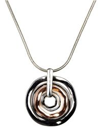 Nine West - Necklace, Tri Tone Orbital Pendant - Lyst