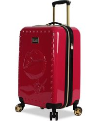 """Betsey Johnson - Lips 20"""" Hardside Expandable Carry-on Spinner Suitcase - Lyst"""
