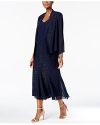 R & M Richards - Dress And Jacket, Embellished Chiffon - Lyst