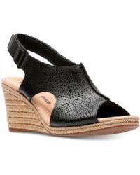 Clarks - Lafely Rosen Wedge Sandals - Lyst