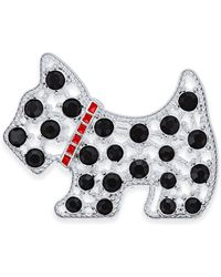Charter Club - Silver-tone Crystal Scottie Dog Brooch, Only At Macy's - Lyst