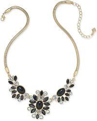 Vera Bradley - Gold-tone Crystal Glitz Statement Necklace - Lyst